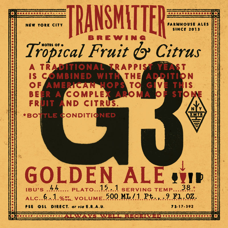 G3 Golden Ale - Transmitter Brewing